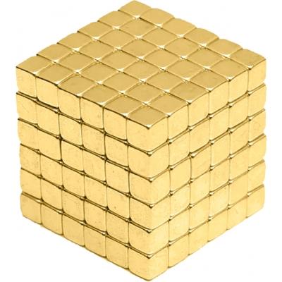 Магнитная игрушка Неокуб головоломка NBZ Neocube 216 кубиков 5 мм в боксе Золотая