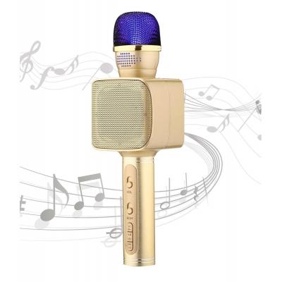 Беспроводной Bluetooth микрофон караоке NBZ Magic Karaoke YS-68 LED 2 динамика с мембраной низких частот Gold