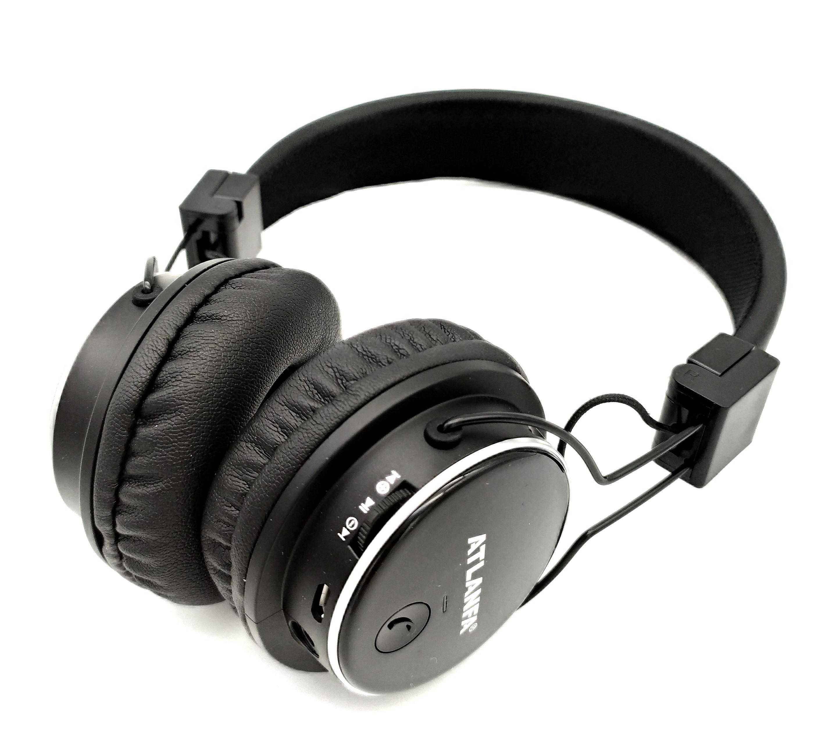 Бездротові Bluetooth-навушники Atlanfa AT-7611 Black c MP3 плеєр, FM-приймачем і мікрофоном