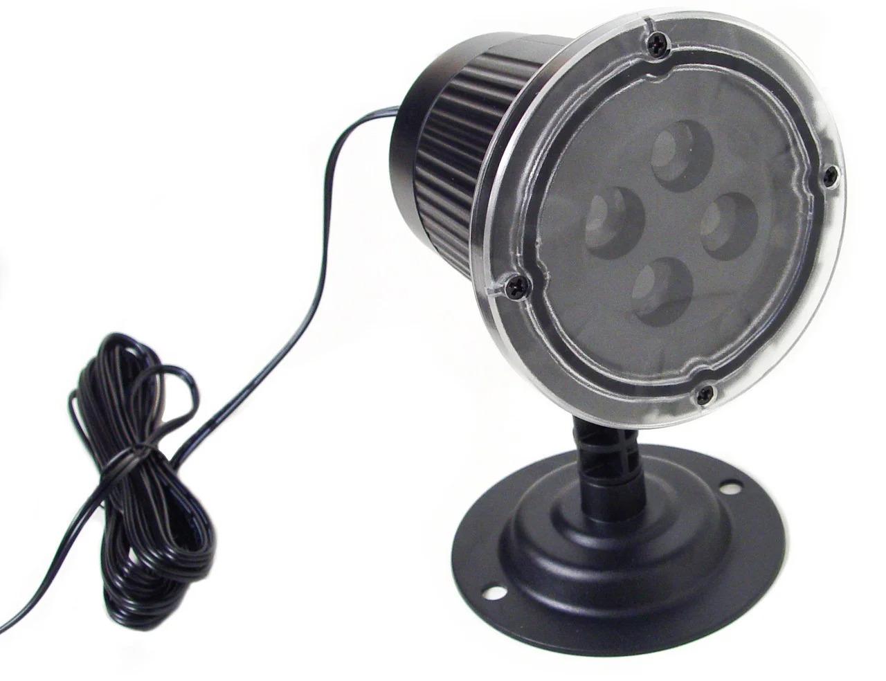 Уличный лазерный проектор для украшения домов новогодний  Festival Projection Lamp | 4 цвета 8 рисунков