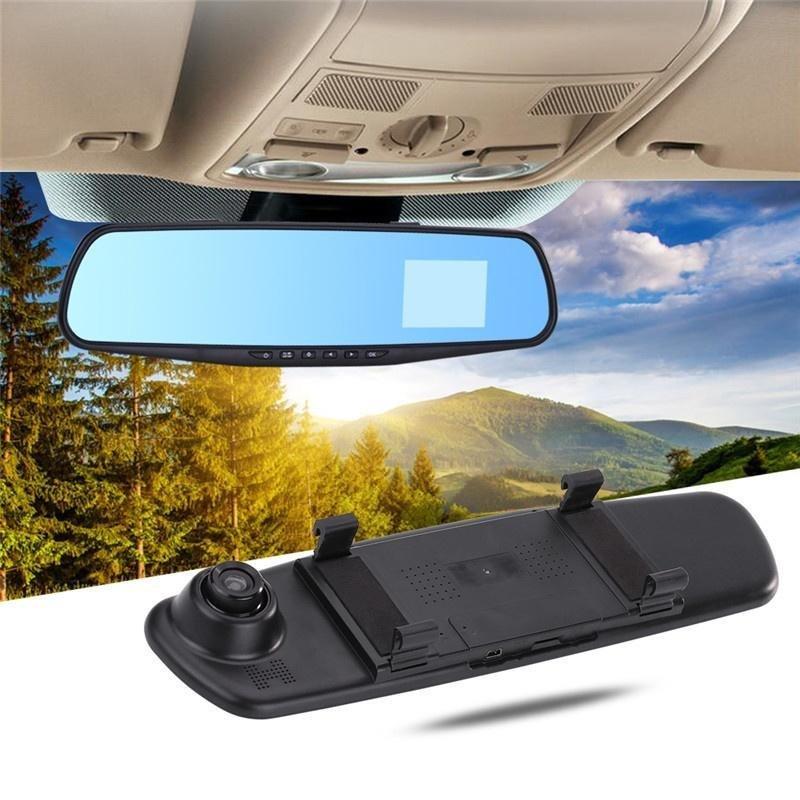 Відеореєстратор дзеркало з камерою заднього виду DVR L9000 Автомобільний реєстратор на 2 камери