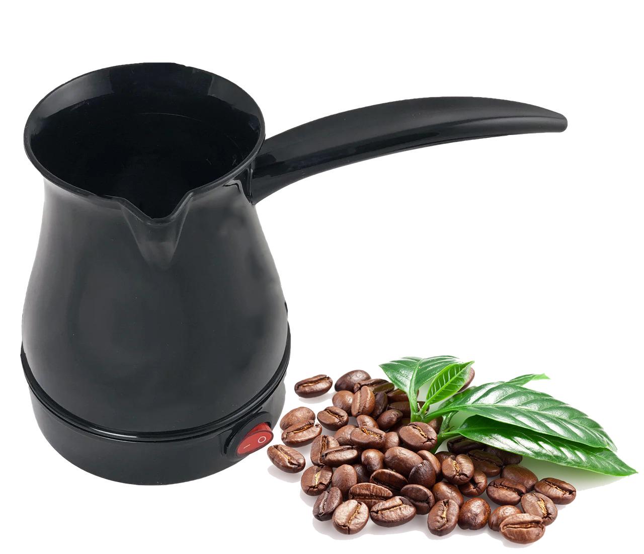 Електрична маленька кавоварка SIO SCM-2928 Black  Турка для кави