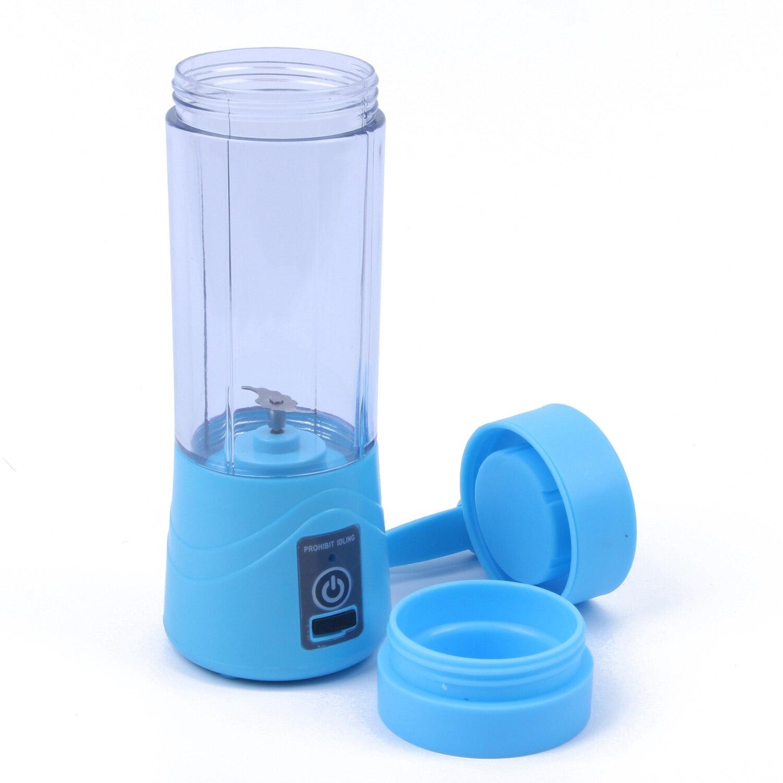 Портативний фітнес-блендер Juice Cup Smoothie Blender 2 ножа з акумулятором Blue