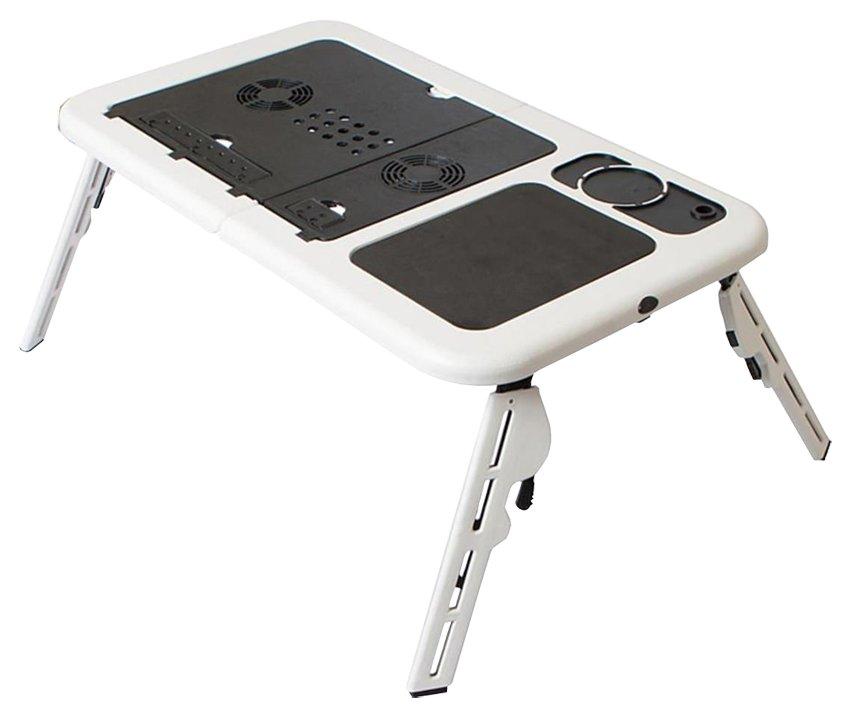 Портативный раскладной столик с охлаждением для ноутбука E-Table складной стол подставка с кулером